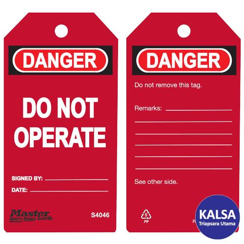 distributor master lock S4046 Red, distributor safety tag S4046 Red, jual Master Lock S4046 Red, jual safety tag S4046 Red, jual loto S4046 Red, distributor loto S4046 Red