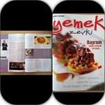 """""""yemek zevki"""" Dergisi Ekim Köşemi Kaçıranlara"""