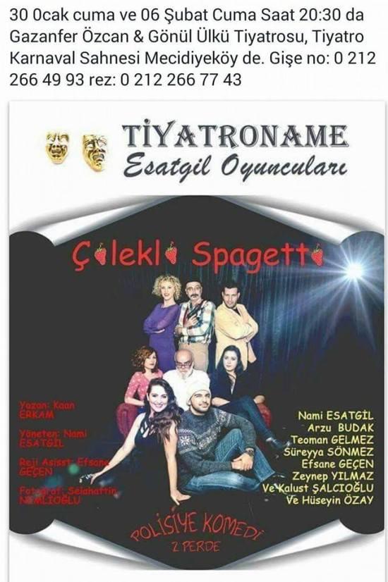 Tiyatro - 6 Şubat 2015 - Mecidiyeköy Gazanfer Özcan ve Gönül Ülkü Sahnesi