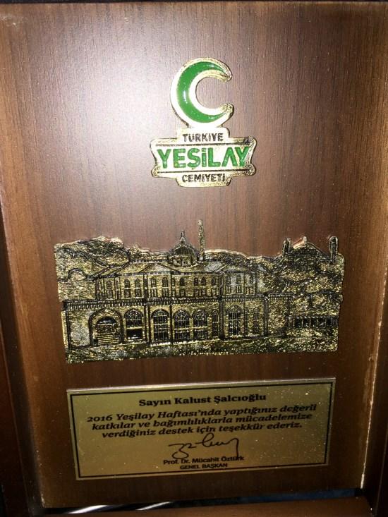 30.05.2016 - Yeşilay Plaket