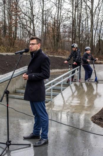 Otwarcie Skateparku w Kalwarii Zebrzydowskiej - 28 listopada 2019 r. - fot. Andrzej Famielec - Kalwaria 24 IMGP0454
