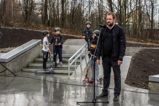 Otwarcie Skateparku w Kalwarii Zebrzydowskiej - 28 listopada 2019 r. - fot. Andrzej Famielec - Kalwaria 24 IMGP0474