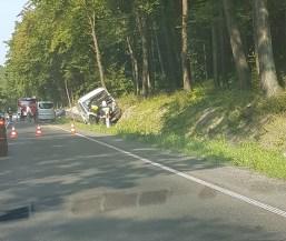 Wypadek na Solcy - fot. Facebook |Patrole, Wypadki, Suszarki Wadowice/Kalwaria/Andrychów-Okolice | Kasia
