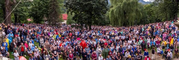 Uroczystości zaśnięcia NMP - Kalwaria Zebrzydowska - 16 sierpnia 2019 r. - fot. Andrzej Famielec - Kalwaria 24 IMGP3623-Pano