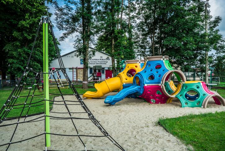 Plac zabaw na Al. Jana Pawła II - 24 czerwca 2020 r. - fot. Andrzej Famielec | Kalwaria 24