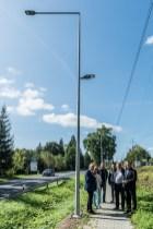 Odbiór nowego oświetlenia LED wdłuż drogi krajowej DK52 - 18 września 2020 r. - fot. Andrzej Famielec - Kalwaria 24-07674