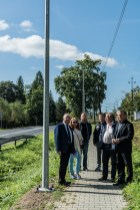 Odbiór nowego oświetlenia LED wdłuż drogi krajowej DK52 - 18 września 2020 r. - fot. Andrzej Famielec - Kalwaria 24-07676
