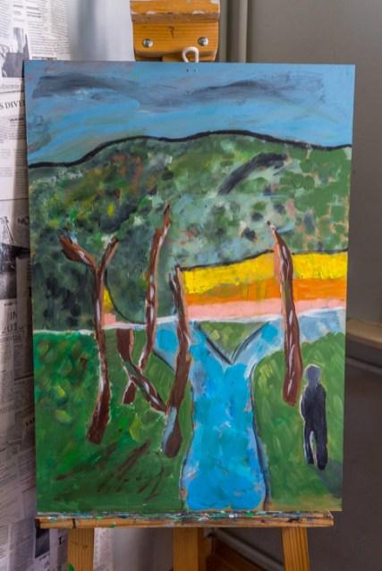 Zielony Anioł w Lanckoronie - Wystawa prac uczniów z -Werandy Anieli- podcas -Spotkania w Stodole--04384