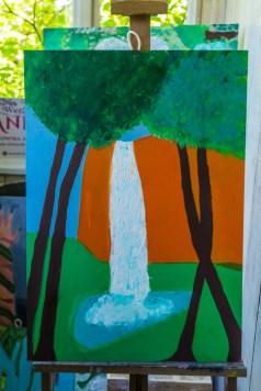 Zielony Anioł w Lanckoronie - Wystawa prac uczniów z -Werandy Anieli- podcas -Spotkania w Stodole--04388