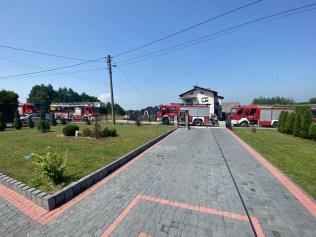 Wybuch pieca w kotłowi naposesji w Stanisławiu Dolnym - 13 lipca 2021 r. - fot. OSP Zebrzydowice