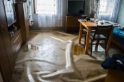 zalane mieszkania na ul. Kolejowej - fot. Maria Wrona