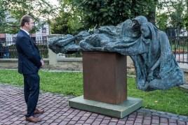 Wernisaż wystawy prof. Karola Badyny w Kalwarii Zebrzydowskiej - 9 sierpnia 2021 r. - fot. Andrzej Famielec - Kalwaria 24-08417