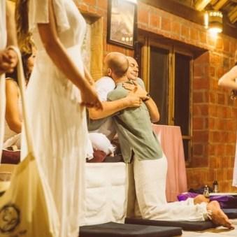 Adam and Sahajananda embracing