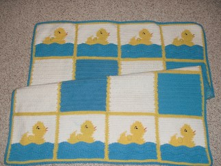 duckie blanket - adapted from Vogue Knitting on the Go (cotton)
