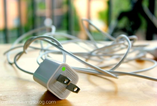 Image result for tangled iphone chargers on table