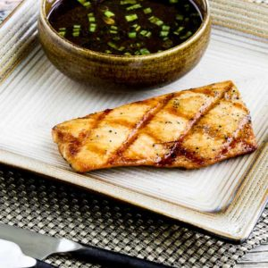 Soy-Grilled Mahi Mahi with Korean Dipping Sauce close-up photo