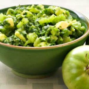 Salsa Verde with Green Tomatoes, Avocados, and Cilantro top photo