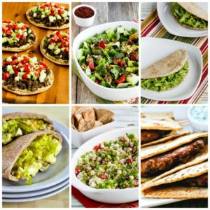 Recipes made with low-carb pita bread collage