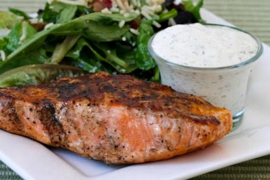 Top photo for Market Street Grill Creamy Cucumber-Dill Sauce for Fish