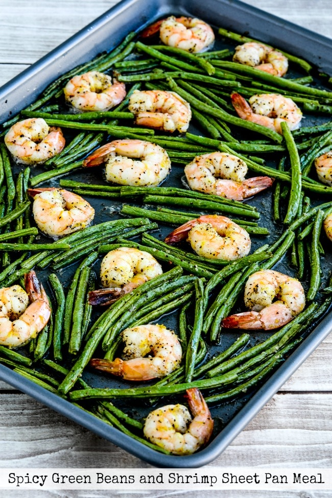 Spicy Green Beans and Shrimp Sheet Pan Meal title photo