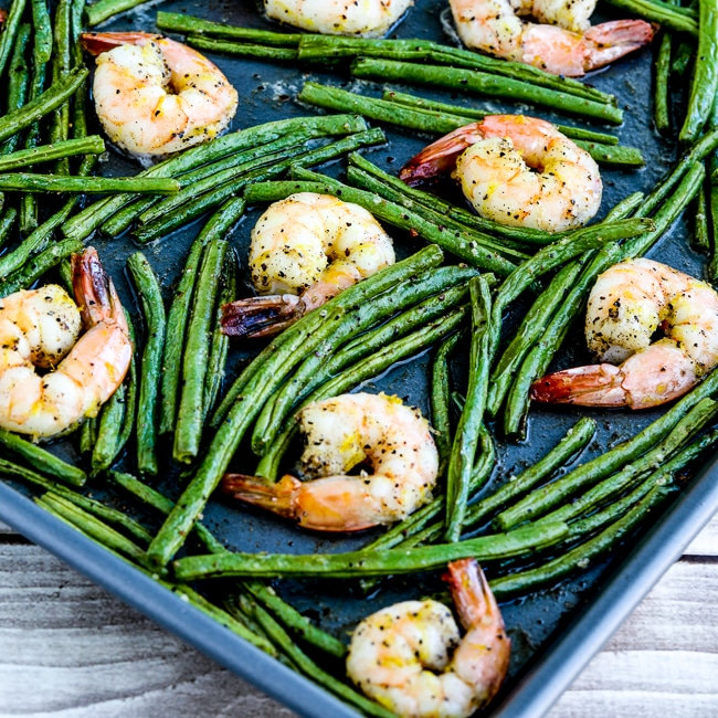 Spicy Green Beans and Shrimp Sheet Pan Meal thumbnail pnoto