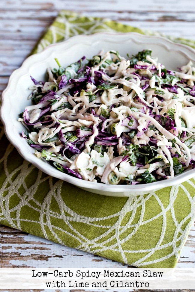 Low-Carb Spicy Mexican Slaw with Lime and Cilantro title photo