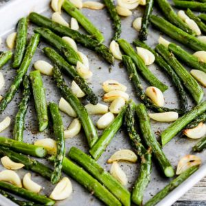 Roasted Asparagus with Garlic found on KalynsKitchen.com