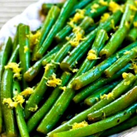 Lemony Green Beans with Lemon Juice and Lemon Zest