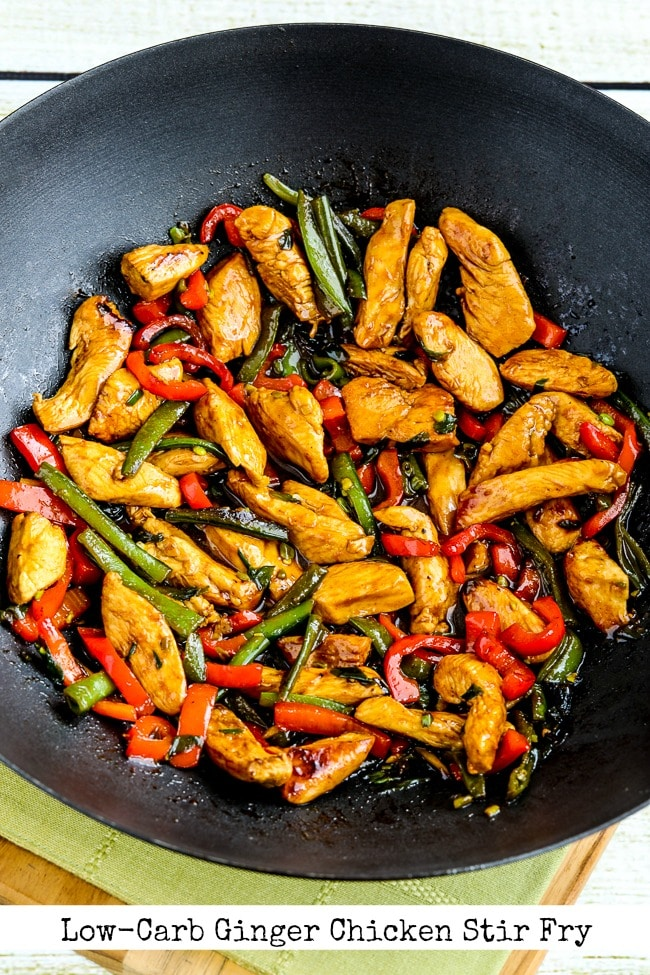 Low-Carb Ginger Chicken Stir Fry title photo