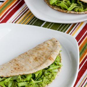 Close-up photo for Easy Spicy Avocado in Low-Carb Pita Bread