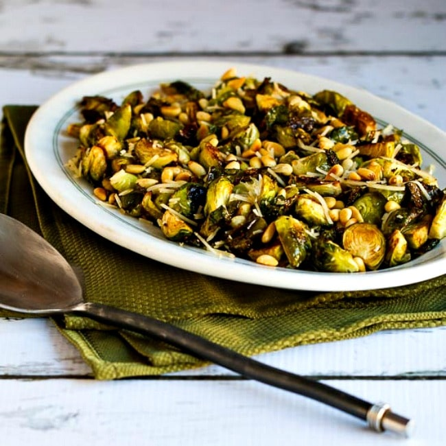 Roasted Brussels Sprouts with Balsamic, Parmesan, and Pine Nuts thumbnail photo