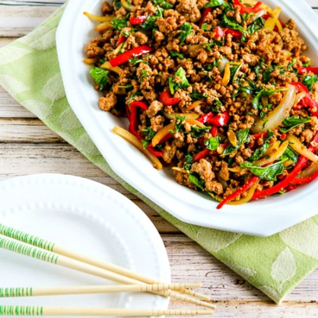 Thai-Inspired Ground Turkey Stir-Fry with Basil and Peppers thumbnail photo