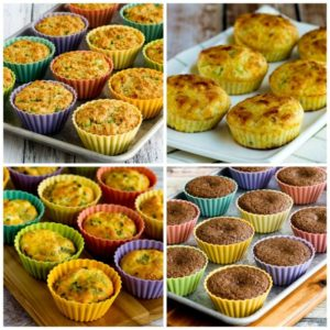 Low-Carb Muffins and Breakfast Muffins (and My Favorite Silicone Baking Cups) top photo collage