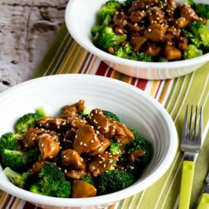 close-up photo for Slow Cooker Asian Chicken Broccoli Bowls