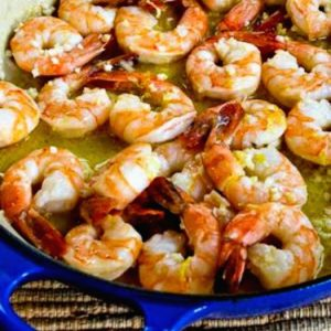 Low-Carb Shrimp Dinner Recipes found on KalynsKitchen.com