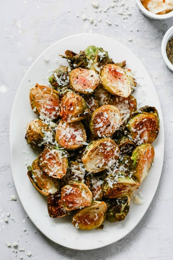 Low-Carb Brussels Sprouts for a Thanksgiving Side Dish featured on KalynsKitchen.com