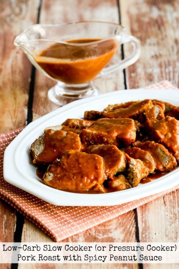 Low-Carb Slow Cooker (or Pressure Cooker) Pork Roast with Spicy Peanut Sauce title photo