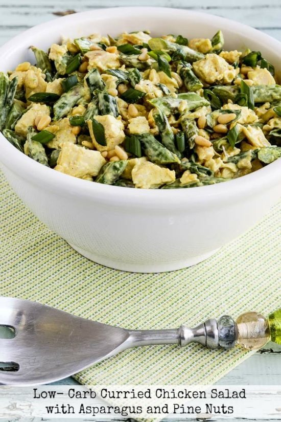 Low-Carb Curried Chicken Salad with Asparagus and Pine Nuts