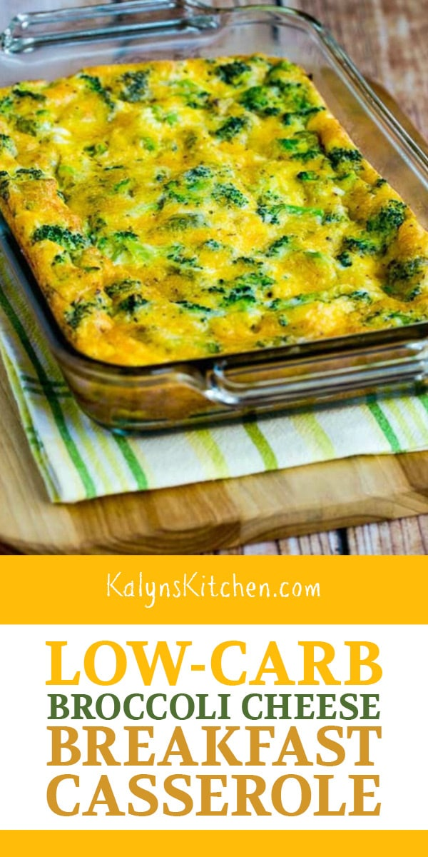 Pinterest image of Low-Carb Broccoli Cheese Breakfast Casserole