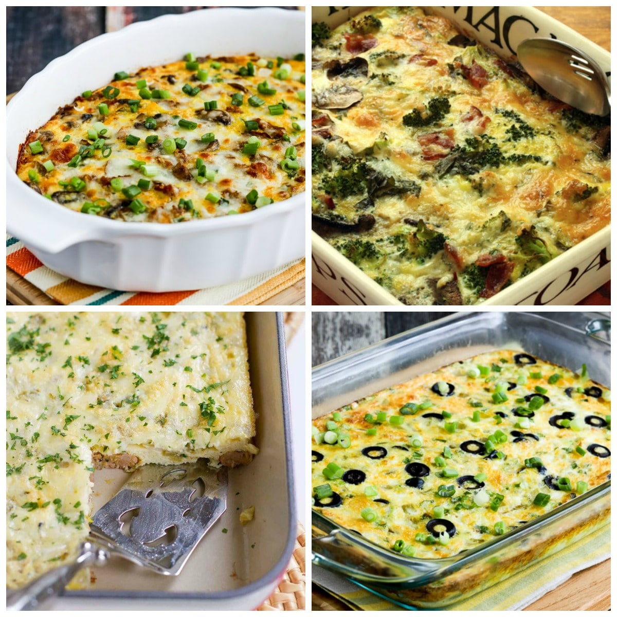 Low-Carb and Keto Breakfast Casseroles Your Family Will Love collage photo