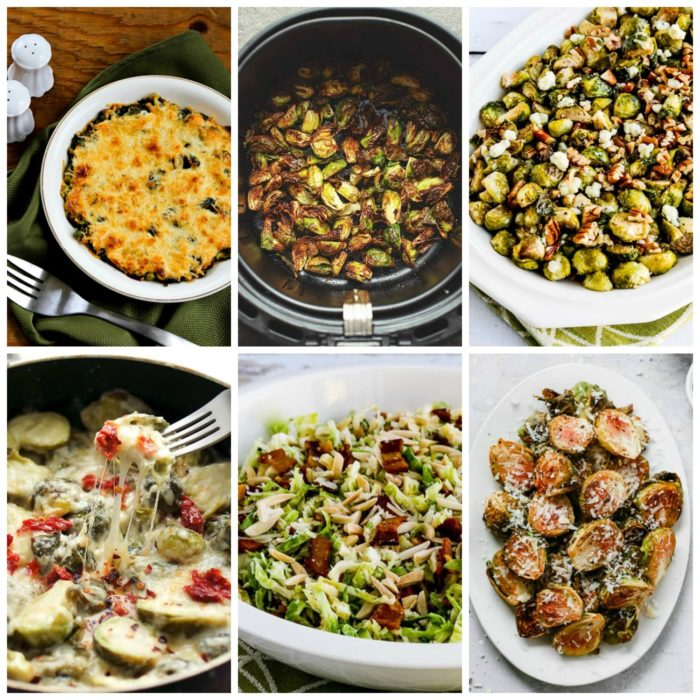 Low-Carb Brussels Sprouts Recipes for a Tasty Side Dish collage photo