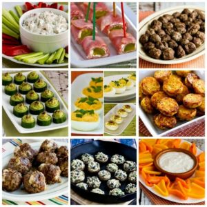 50+ Low-Carb and Gluten-Free Super Bowl Appetizer Recipes found on KalynsKitchen.com