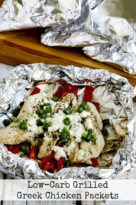 Low-Carb Grilled Greek Chicken Packets