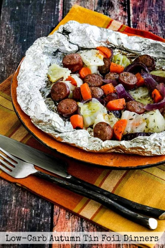 Low-Carb Autumn Tin Foil Dinners