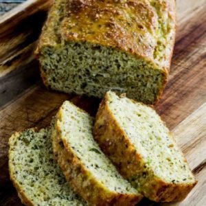 slices of Almond Flour Savory Bread
