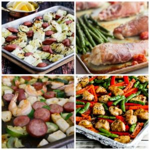 Low-Carb and Keto Sheet Pan Meals for Easy Family Dinners COLLAGE PHOTO