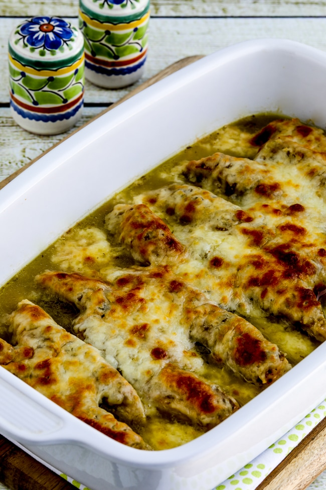 Salsa Verde Chicken Bake close-up photo
