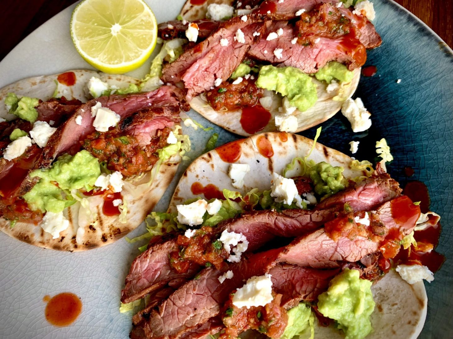 Hickory Smoked Reverse Seared Beef Skirt Tacos
