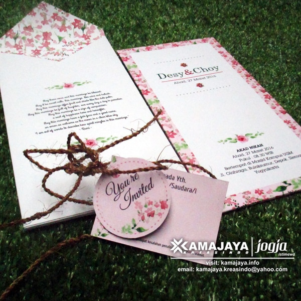 Undangan Single Hardcover Tali