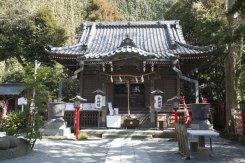 本殿。須佐之男命、奇稲田姫などの祭神が祀られています。
